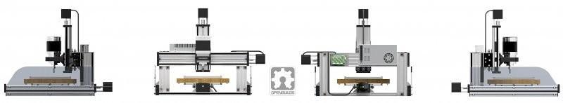 La OpenBuilds C-Beam Machine es una maquina CNC basado en el popular sistema de Guía Lineal V-Slot y C-Beam. La máquina es muy regida. La Guía Lineal incorpora un perfil en forma de C, que da estabilidad y fuerza con mayor funcionalidad..