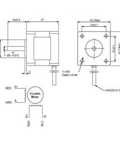 Motor a pasos NEMA17 0.44N·m / Stepper motor