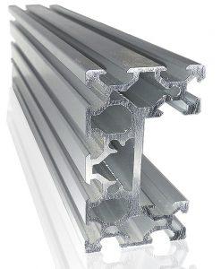 Perfil de aluminio estructural ranurado para automatización CNC en venta