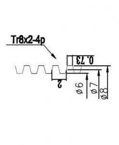 Tornillo husillo trapezoidal Acme 8mm Tr8x8, Natytec.