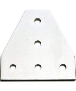 Placa unión T con 5 agujeros espaciamiento 20mm