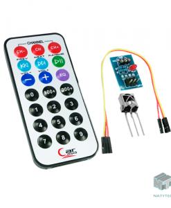 Kit Control Remoto IR 21 Botones con Receptor Infrarrojo HX1838,NATYTEC CDMX.