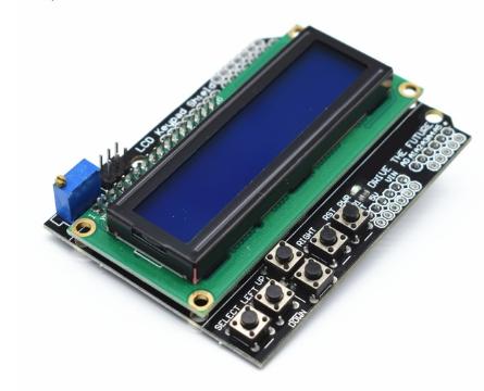 Shield Display LCD 16×2 con teclado